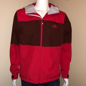 The North Face fleece lined red jacket.
